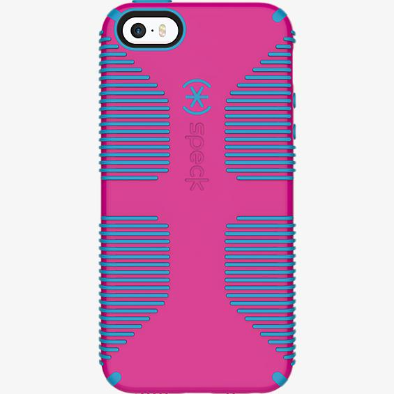 CandyShell Grip para iPhone SE - Color Lipstick Pink/Jay Blue