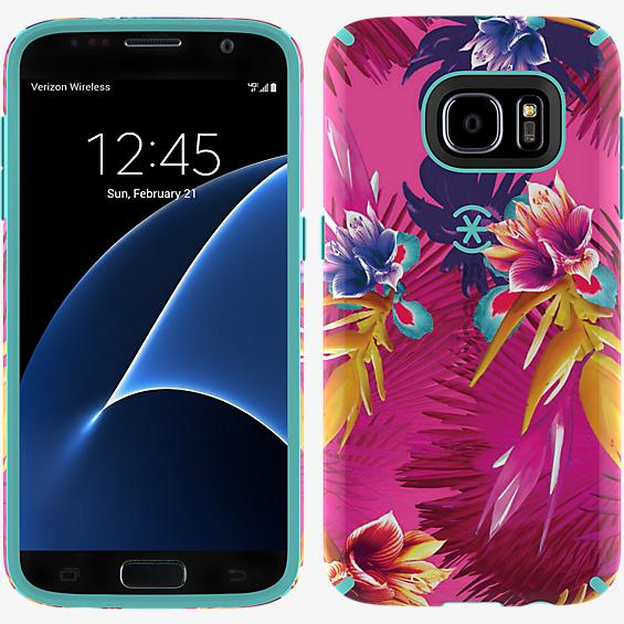 CandyShell INKED para Samsung Galaxy S7 - Color Wild Tropic Fucshia