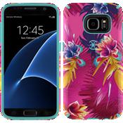 CandyShell INKED para Samsung Galaxy S7 - Color Wild Tropic Fucshia