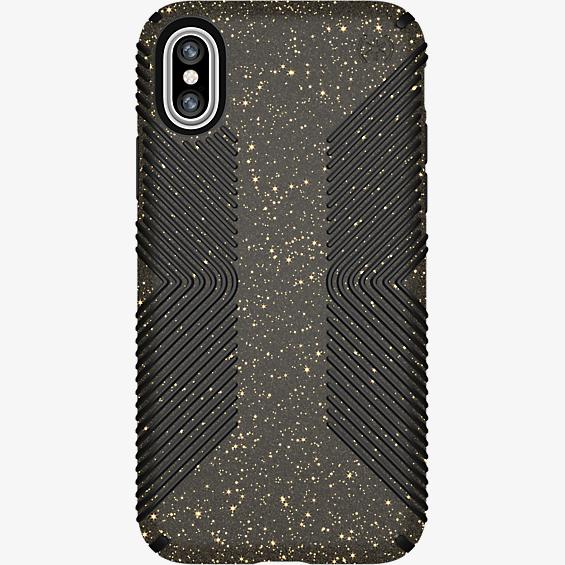 Presidio Grip Black Glitter para iPhone X