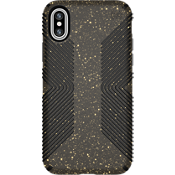 Presidio Grip Black Glitter para iPhone X - Negro