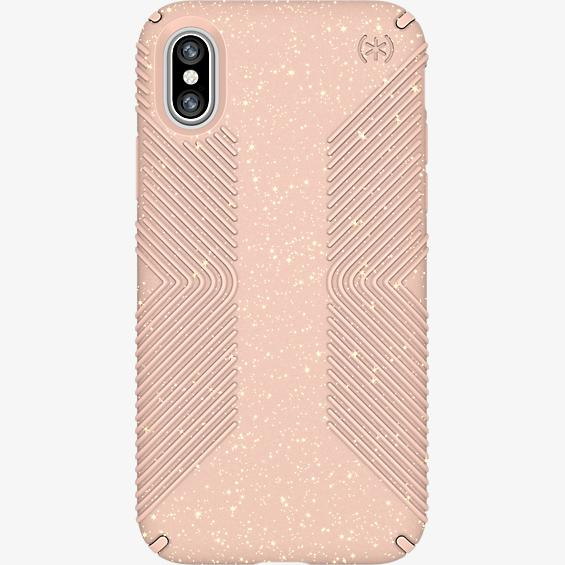 Presidio Grip Pink Glitter para iPhone X
