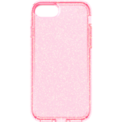 Estuche brillante transparente Presidio para iPhone 7 - Color Rose Pink/Dorado