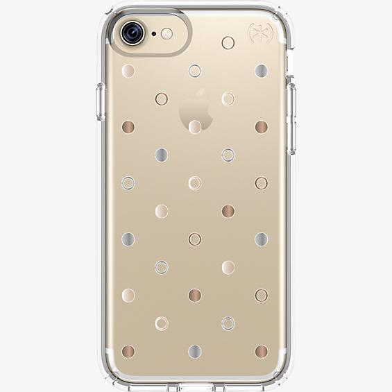 Estuche Presidio Clear Print para iPhone 7/6s/6 - Disco Dots