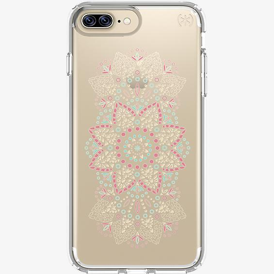 Estuche Presidio Clear Print para iPhone 7 Plus/6s Plus/6 Plus - Lace Mandala