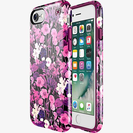 Estuche Presidio Inked Flower Etch para iPhone 7 - Color Pink Metallic/Color Magenta Pink