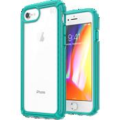 Carcasa Presidio V-Grip para el iPhone 8/7/6s - Transparente/Caribbean Blue