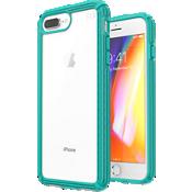 Carcasa Presidio V-Grip para el iPhone 8 Plus/7 Plus/6s Plus - Transparente/Caribbean Blue