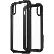 Estuche Presidio V-Grip para el iPhone XS/X - Transparente/negro
