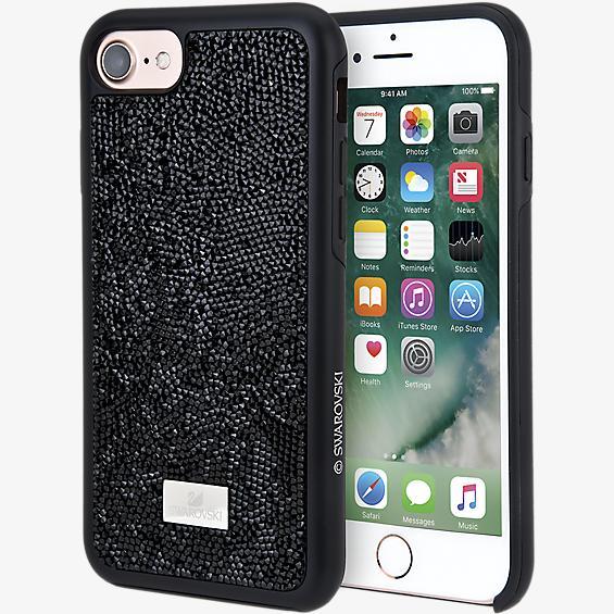 Carcasa para smartphone Glam Rock Black con protector para iPhone 8/7/6