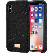 Carcasa para smartphone Swarovski High con protector para iPhone X - Negro