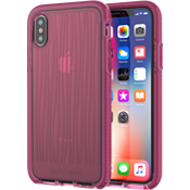 Estuche Evo Wave para iPhone X - Bordó