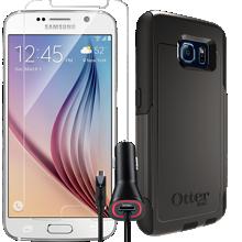 Paquete de vidrio templado para el Samsung Galaxy S 6 - Negro