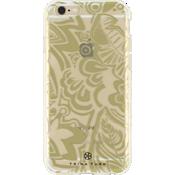 Estuche traslúcido (1 pza.) Trina Turk para iPhone 6/6s - Flat Tropics Gold/Transparente