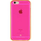 Estuche translúcido con protector metálico (2 piezas) para iPhone 6/6s - Rosa/Dorado