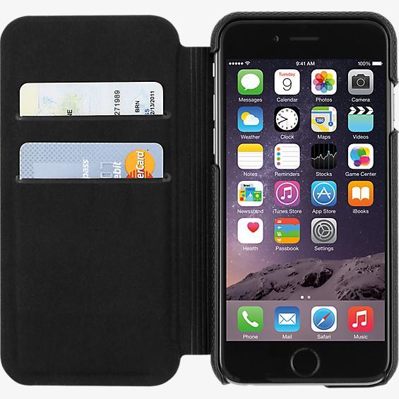 Estuche tipo folio para iPhone 6/6s - Piel negra