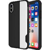 Estuche deslizable de 2 piezas para iPhone X - Negro/Plateado