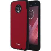 Estuche comoldeado de lona plastificada para Moto Z2 Play - Rojo