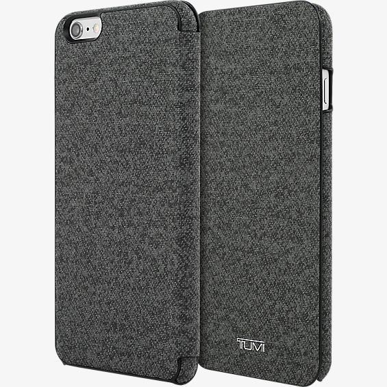 Estuche tipo folio de lona plastificada para iPhone 6 Plus/6s Plus