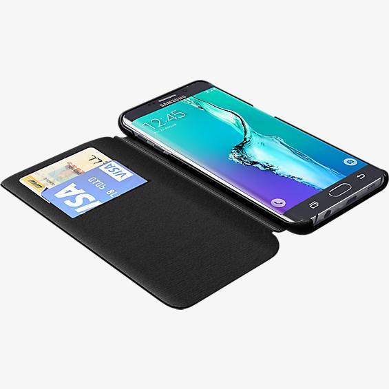Estuche tipo folio para Samsung Galaxy S 6 edge+ - Piel negra