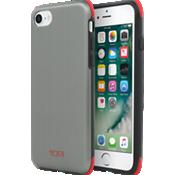 Estuche protector para iPhone 7 - Color Brushed Gunmetal/Rojo