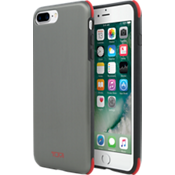 Estuche protector para iPhone 7 Plus - Color Brushed Gunmetal/Rojo