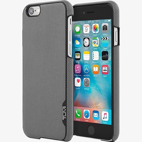 Estuche de piel de serraje con cierre a presión para iPhone 6/6s
