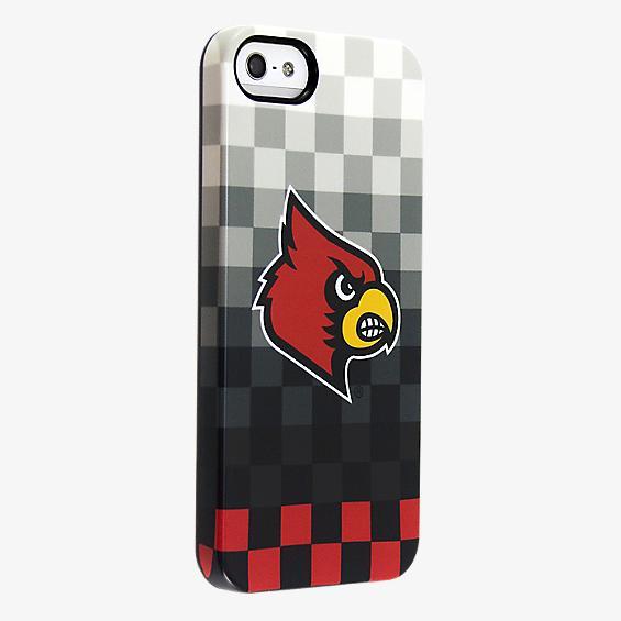 Estuche Deflector University of Louisville para iPhone 5/5s - Diseño de rayas pixeladas