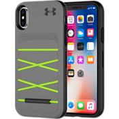 Estuche UA Protect Arsenal para iPhone X - Grafito/Color Quirky Lime