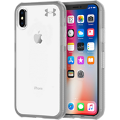 Estuche UA Protect Verge para iPhone X - Transparente/Grafito/Logo Color Gunmetal