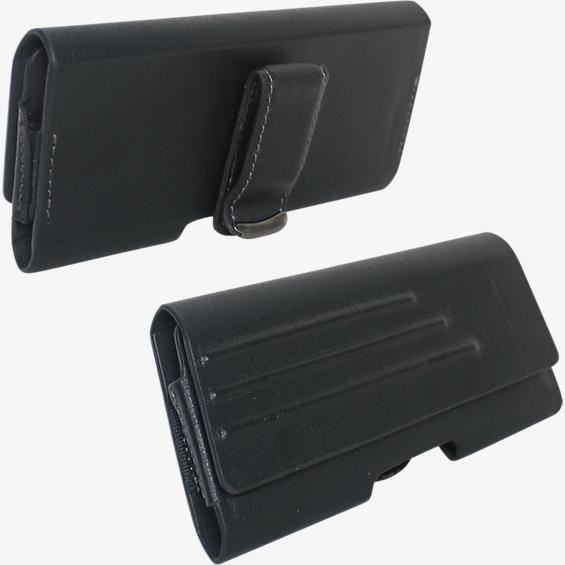 Estuche universal de piel ecológica con clip para cinturón - Pequeño