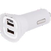 Cargador para auto de 4.8 amp con salida doble - Blanco