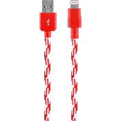 Cable trenzado de carga y sincronización para Apple Lightning - Rojo
