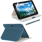 Paquete de estuche tipo billetera, protector de pantalla y lápiz electrónico para Ellipsis 10