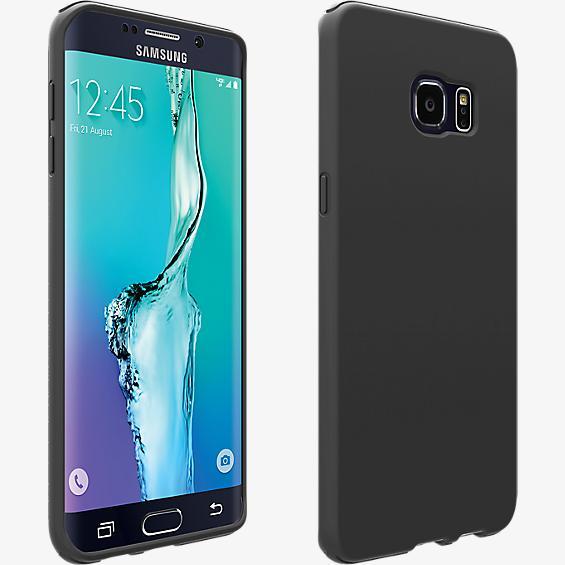 Cubierta de silicona para Samsung Galaxy S 6 edge+ - Color Matte Black