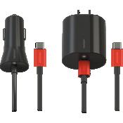 Paquete combinado de cargador de pared y auto USB-C