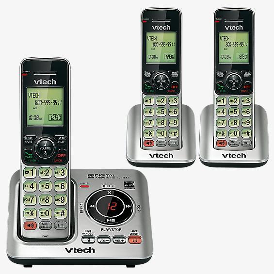 Sistema de contestador de llamadas con 3 teléfonos inalámbricos, con identificador de llamadas y llamada en espera