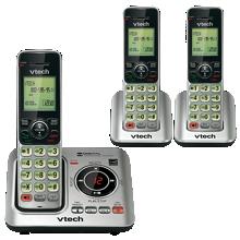 Sistema de contestador de llamadas VTech con 3 teléfonos inalámbricos