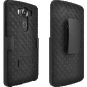 Paquete combinado de funda/protector con pie de apoyo para LG V10