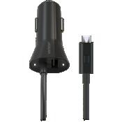 Cargador para auto micro USB con luz LED