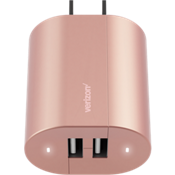 Cargador de pared con dos puertos USB - Color Rose Gold