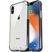 Estuche protector transparente para iPhone X - Transparente/Negro