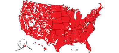 Cobertura 4G LTE de Verizon