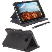 Paquete de estuche tipo folio, protector de pantalla y lápiz electrónico para Ellipsis 8 - Negro