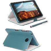 Paquete de estuche tipo folio, protector de pantalla y lápiz electrónico para Ellipsis 8 - Azul