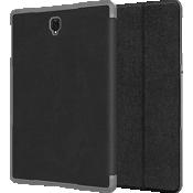 Paquete de estuche tipo billetera y vidrio templado para la Galaxy Tab S4 - Negro