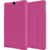 Paquete de estuche tipo folio y vidrio templado para Ellipsis 8 HD - Rosa