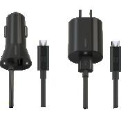 Paquete combinado de cargador de pared y auto Micro USB