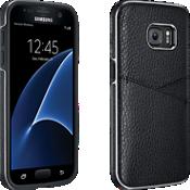Estuche tipo billetera de piel Milk & Honey para Samsung Galaxy S7 - Negro