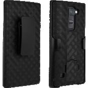 Paquete combinado de cubierta/protector para K8 V - Negro